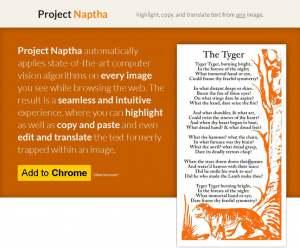 Project Naptha – Công cụ giúp lấy text ngay trong ảnh