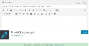 TinyMCE Advanced – plugin soạn thảo bài viết