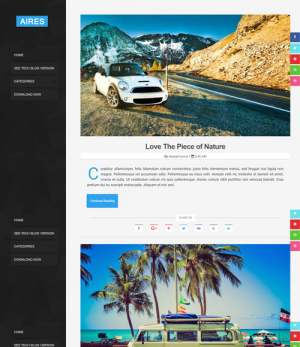 Aires Responsive Blogger Template [ blogspot themes ]