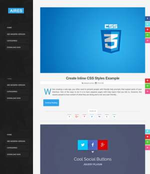 Aires Tech Blog Blogger Template [ blogspot themes ]