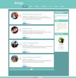 Amiga ResponsiveBlogger Template [ blogspot themes ]