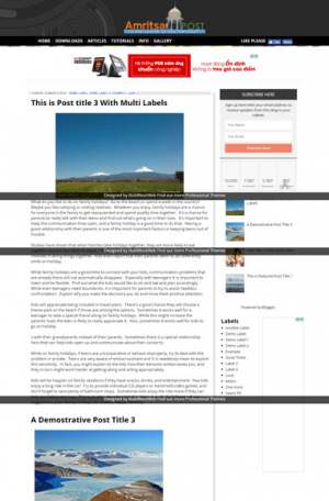 Amritsar Post Blogger Template [ blogspot themes ]