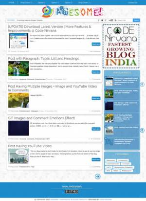 Awesome Responsive Blogger Template [ blogspot themes ]