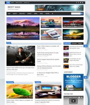 Best Mag Blogger Template [ blogspot themes ]