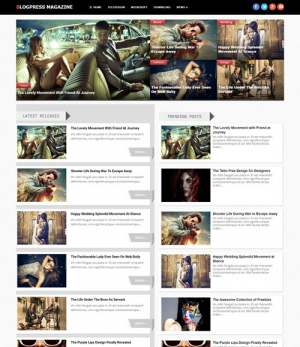 BlogPress Magazine Blogger Template [ blogspot themes ]