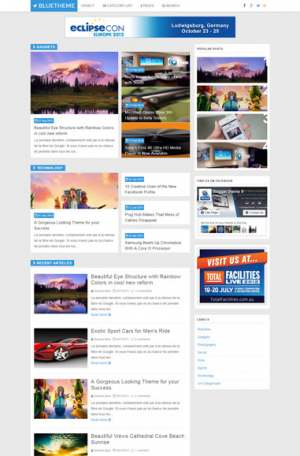 Blue Theme Blogger Template [ blogspot themes ]