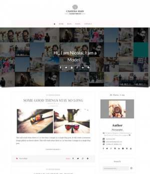 Camera Man Blogger Template [ blogspot themes ]