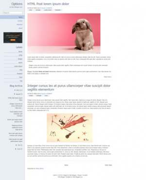Chrome Options Blogger Template [ blogspot themes ]