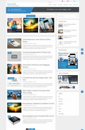 Clean Shift Blogger Template [ blogspot themes ]