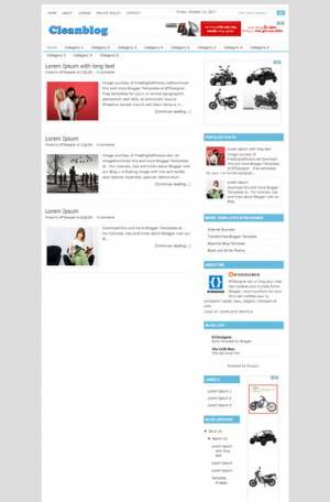 Cleanblog Blogger Template [ blogspot themes ]