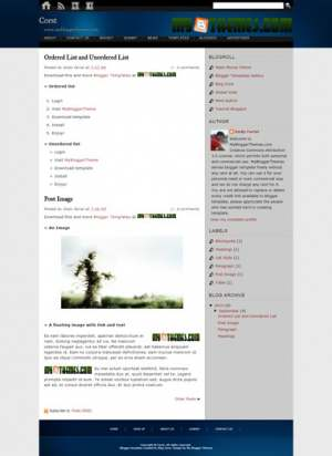 Corst Blogger Template [ blogspot themes ]