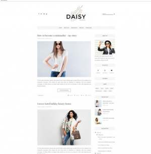 Daisy Clean Blogger Template [ blogspot themes ]