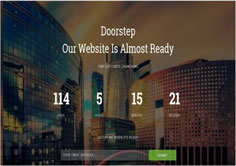 Doorstep Coming Soon Responsive Blogger Template [ blogspot themes ]