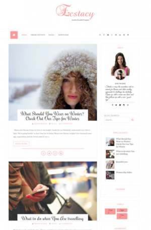 Ecstacy Blogger Template [ blogspot themes ]