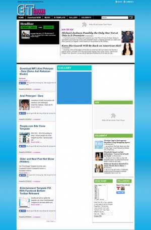 Entertainment 1.0 Fix Blogger Template [ blogspot themes ]