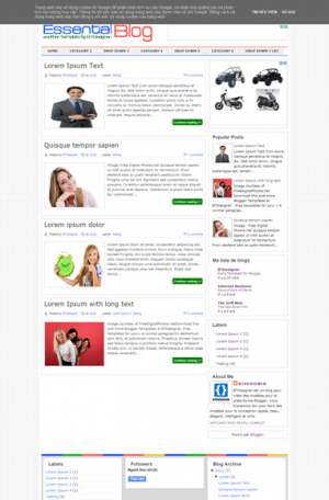 Essential Blogger Template [ blogspot themes ]