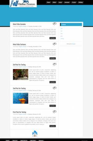 F4U Blue Flame Blogger Template [ blogspot themes ]