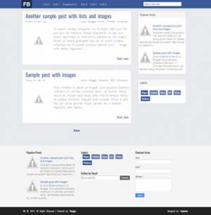 FB Blogger Template [ blogspot themes ]