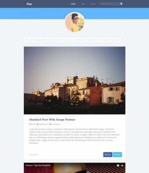 Flex Blogger Template [ blogspot themes ]