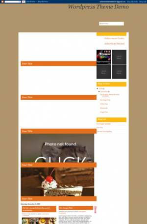 Foodiary Blogger Template [ blogspot themes ]