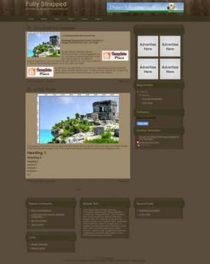 Fully Strapped Blogger Template [ blogspot themes ]
