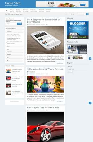 Game Shift Responsive Blogger Template [ blogspot themes ]