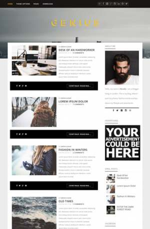 Genius Blogger Template [ blogspot themes ]