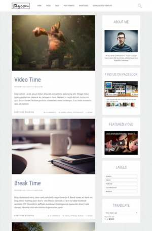 Glycon Responsive Blogger Template [ blogspot themes ]
