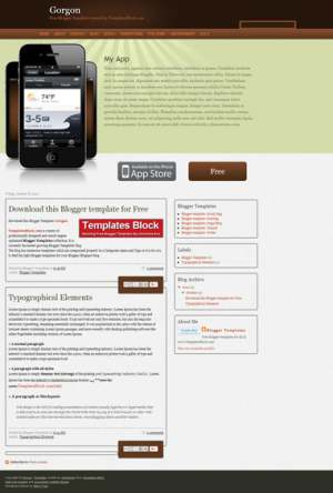 Gorgon Blogger Template [ blogspot themes ]