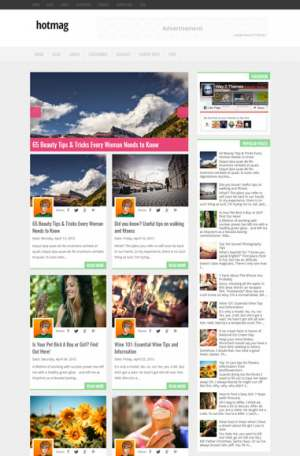 Hotmag Blogger Template [ blogspot themes ]
