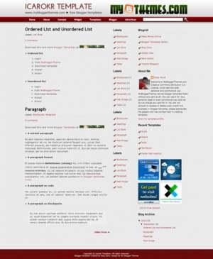 Icarokr Blogger Template [ blogspot themes ]