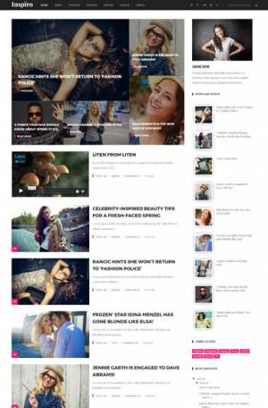 Inspiro Fixed Blogger Template [ blogspot themes ]