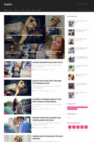 Inspiro Multipurpose Blogger Template [ blogspot themes ]