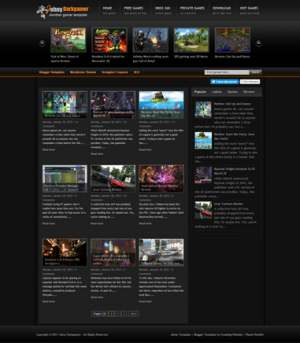 Johny Darkgamer Blogger Template [ blogspot themes ]