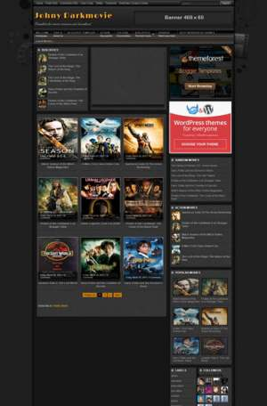 Johny Darkmovie Blogger Template [ blogspot themes ]