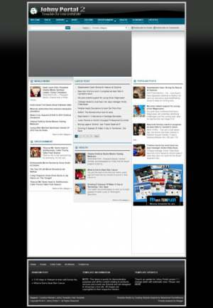 Johny Portal 2 Blogger Template [ blogspot themes ]