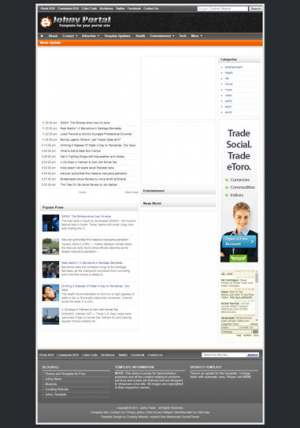 Johny Portal Blogger Template [ blogspot themes ]