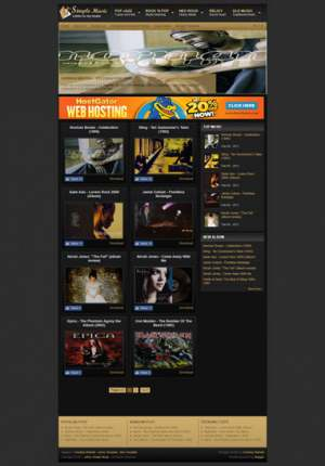 Johny Simple Music Blogger Template [ blogspot themes ]