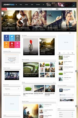 Johnymag Responsive Blogger Template [ blogspot themes ]