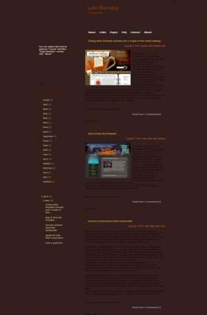 Late Baroque Blogger Template [ blogspot themes ]