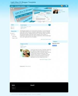 Light Blue V2 Blogger Template [ blogspot themes ]