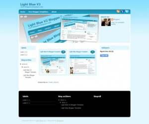 Light Blue V3 Blogger Template [ blogspot themes ]