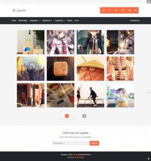 Lycoris Responsive Photography Blogger Template [ blogspot themes ]