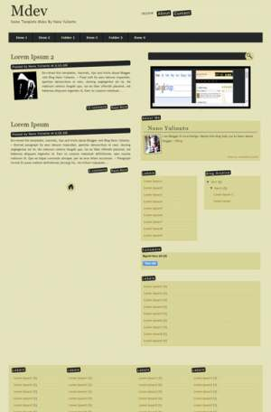 Mdev Blogger Template [ blogspot themes ]