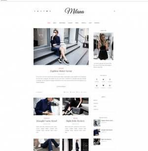 Milana Blogger Template [ blogspot themes ]