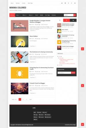 Minima Colored Responsive Blogger Template [ blogspot themes ]