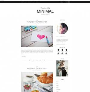 Minimal Clean Blogger Template [ blogspot themes ]