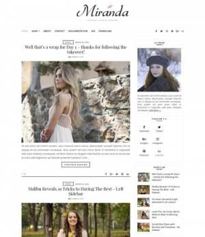 Miranda Blogger Template [ blogspot themes ]