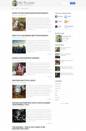 My Tru Love Blogger Template [ blogspot themes ]