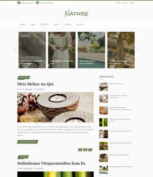 Nature Classic Blogger Template [ blogspot themes ]
